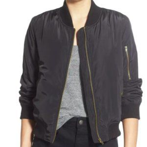 Nordstrom BP Black Bomber Jacket Size Small